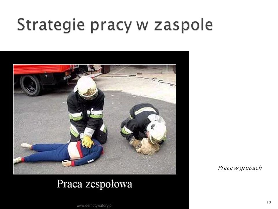 Strategie pracy w zaspole