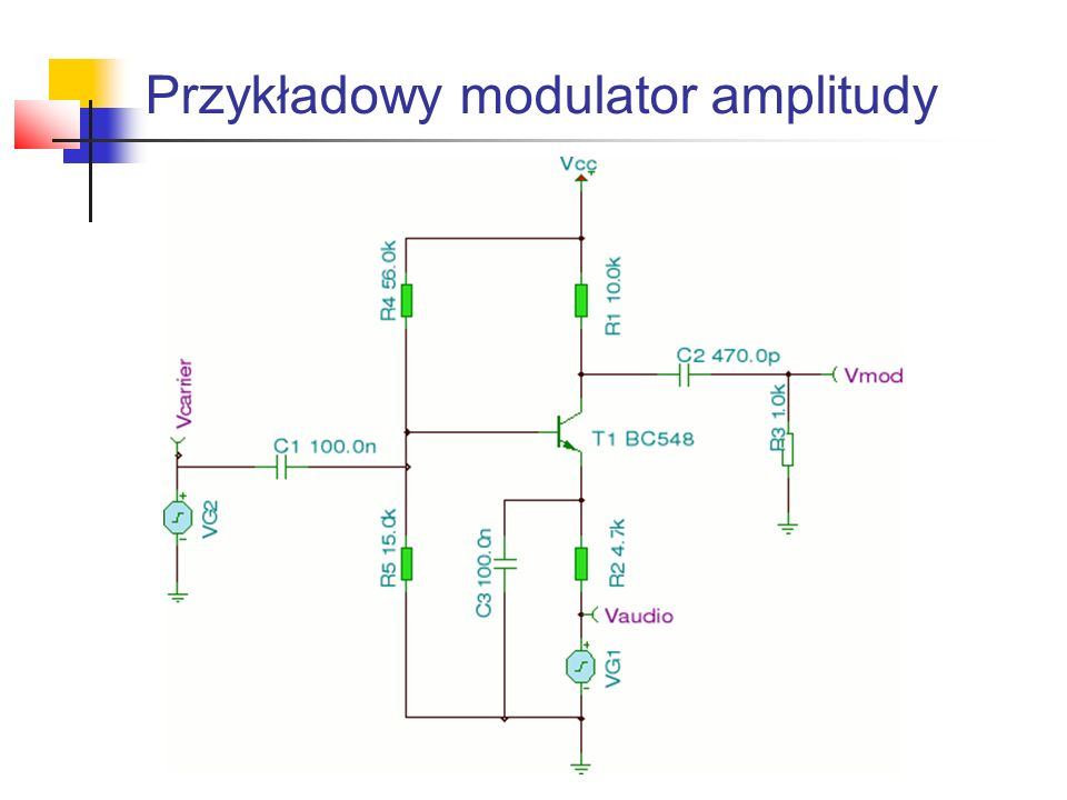 Przykładowy modulator amplitudy