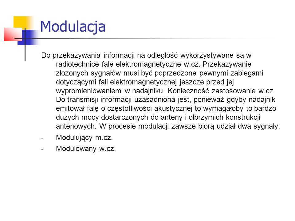 Modulacja