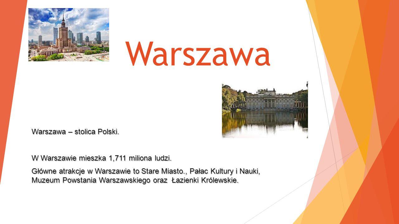 Warszawa Warszawa – stolica Polski.