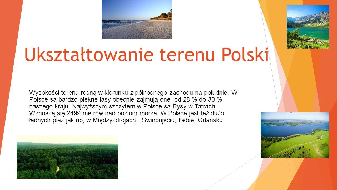 Ukształtowanie terenu Polski