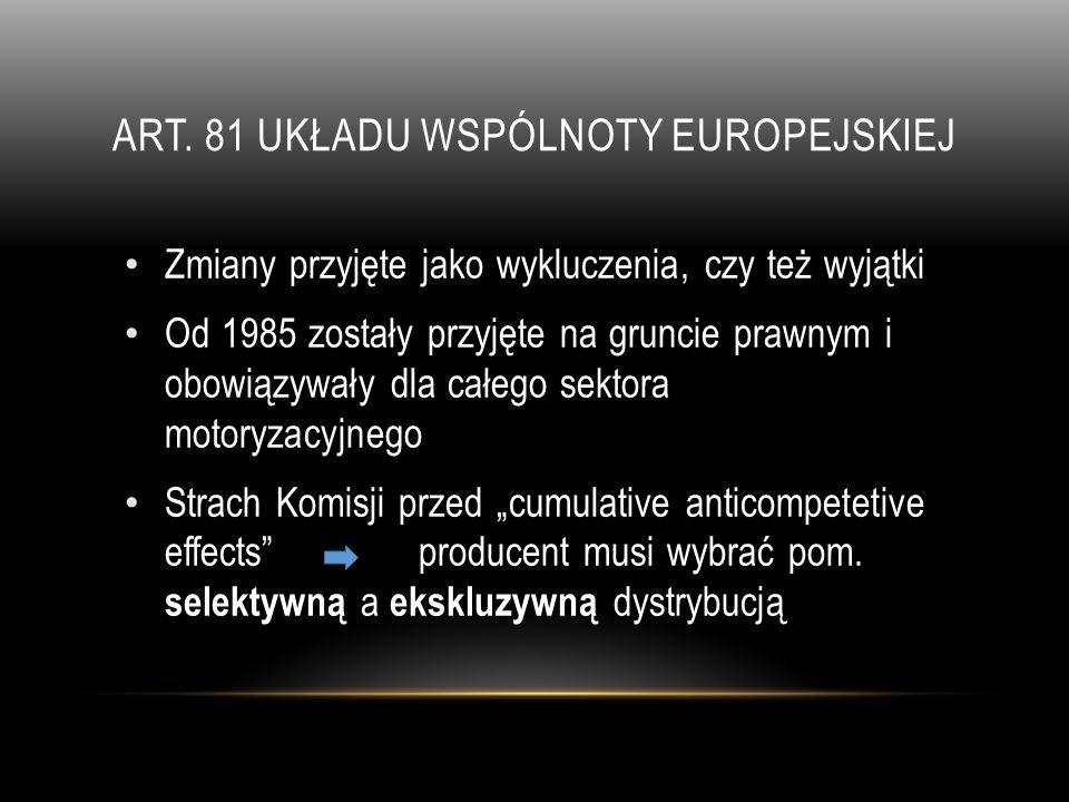 Art. 81 Układu wspólnoty europejskiej