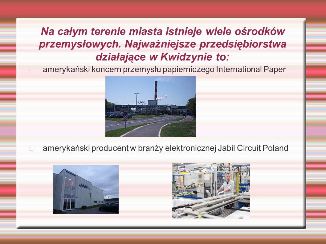 Na całym terenie miasta istnieje wiele ośrodków przemysłowych