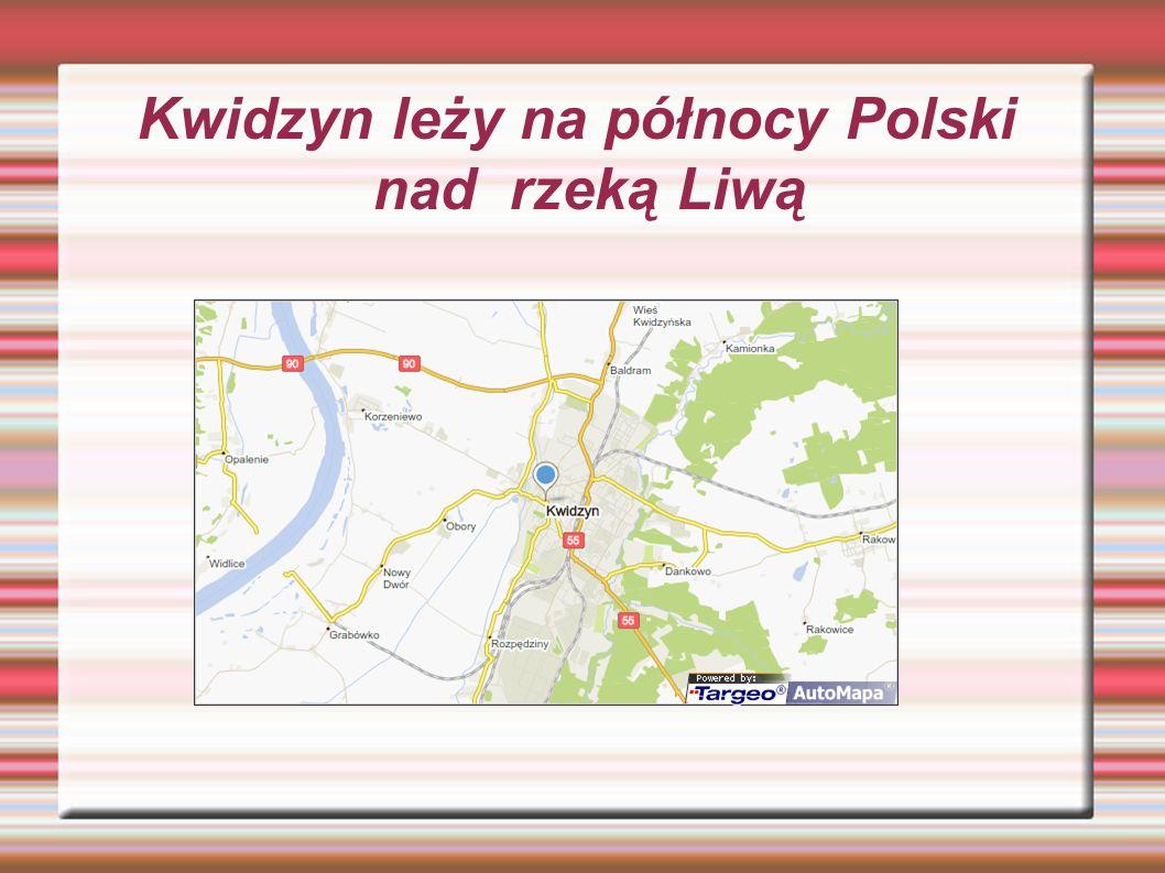 Kwidzyn leży na północy Polski nad rzeką Liwą