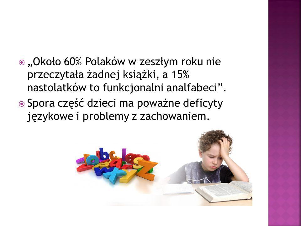 """""""Około 60% Polaków w zeszłym roku nie przeczytała żadnej książki, a 15% nastolatków to funkcjonalni analfabeci ."""
