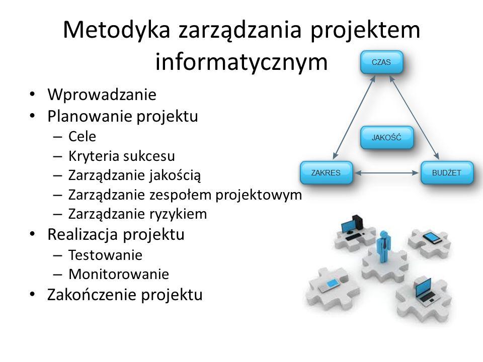 Metodyka zarządzania projektem informatycznym
