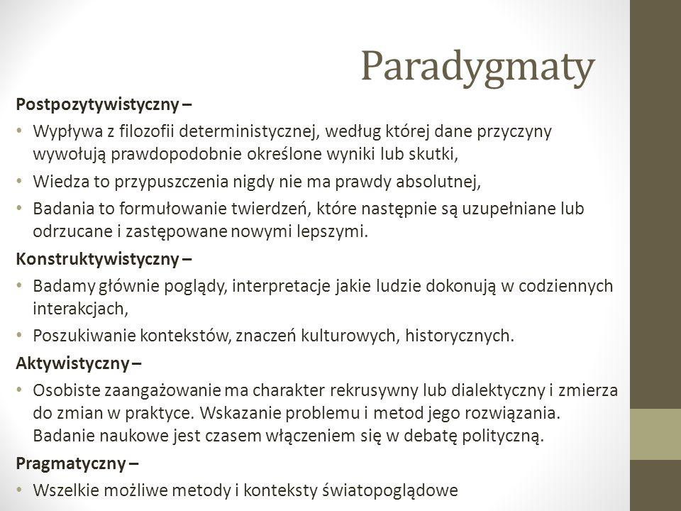 Paradygmaty Postpozytywistyczny –