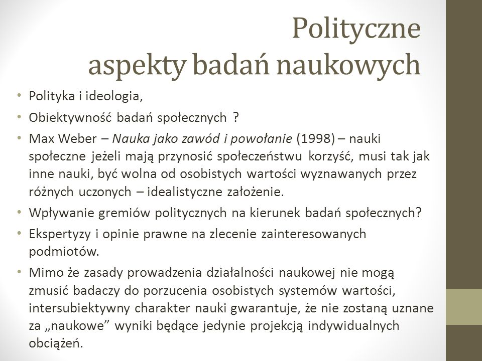 Polityczne aspekty badań naukowych