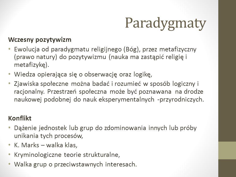 Paradygmaty Wczesny pozytywizm