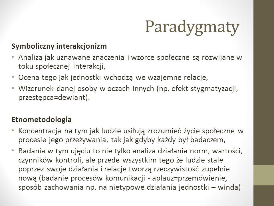 Paradygmaty Symboliczny interakcjonizm