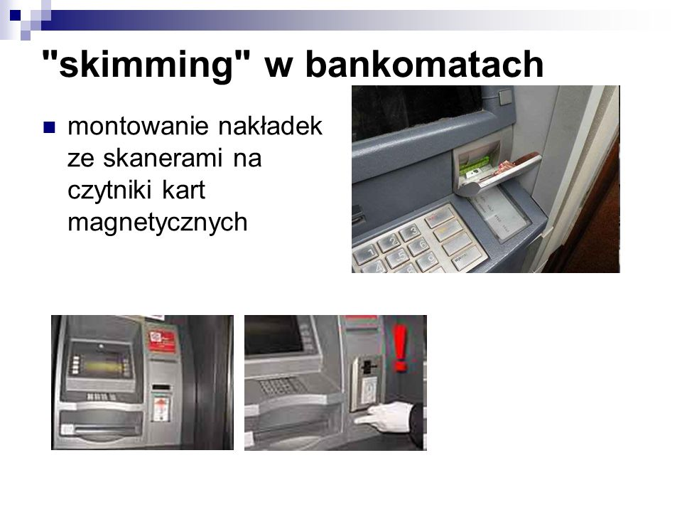 skimming w bankomatach