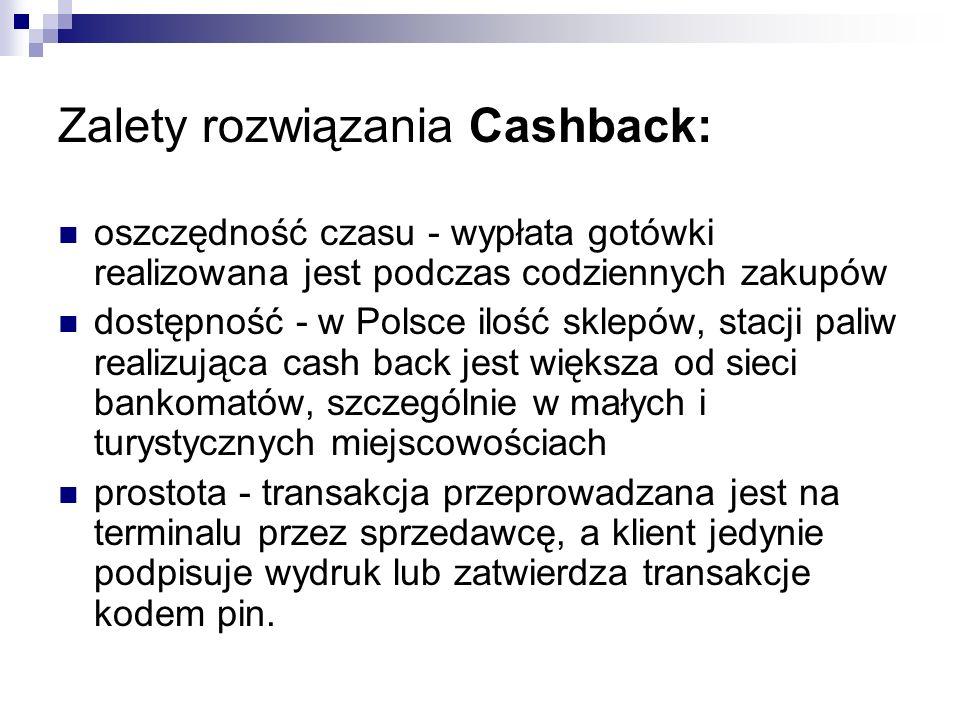 Zalety rozwiązania Cashback: