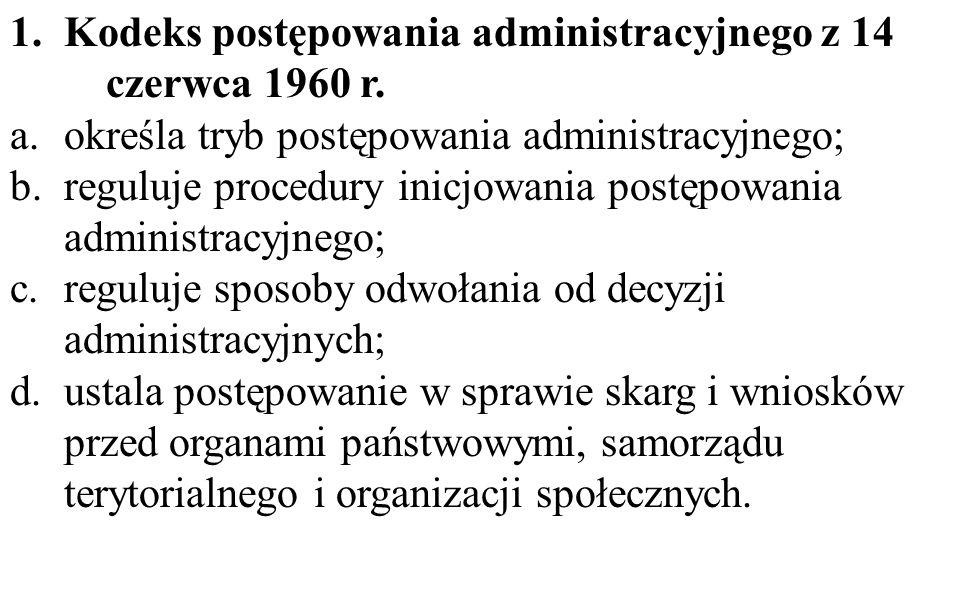 Kodeks postępowania administracyjnego z 14 czerwca 1960 r.