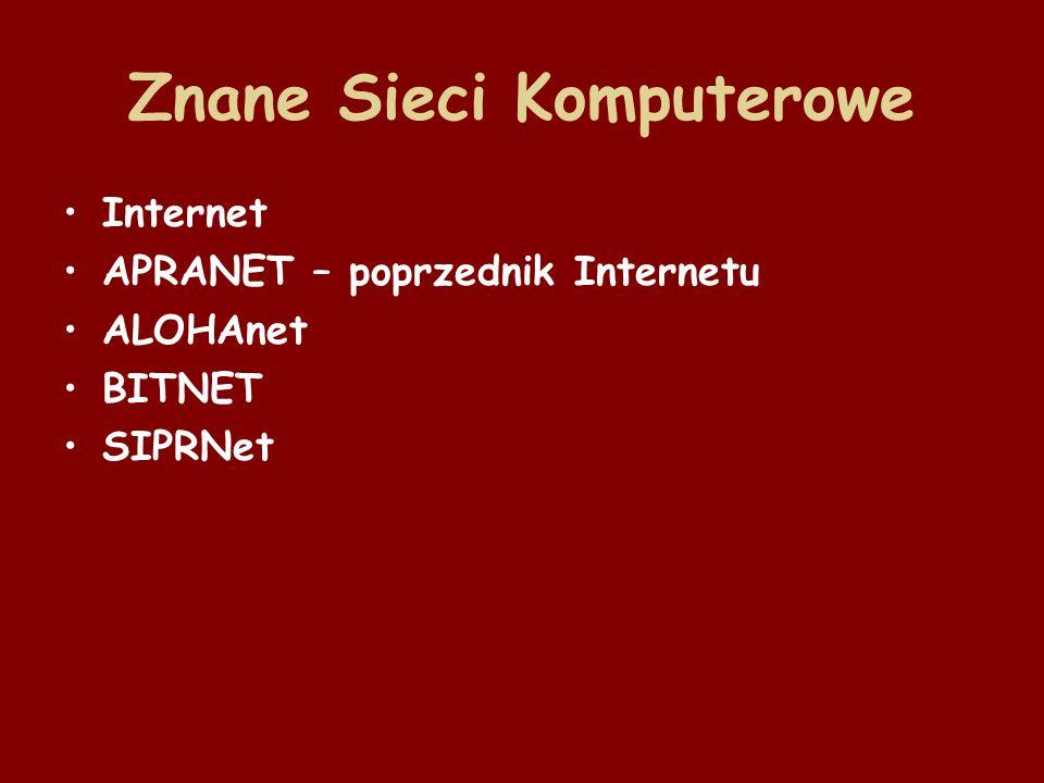 Znane Sieci Komputerowe