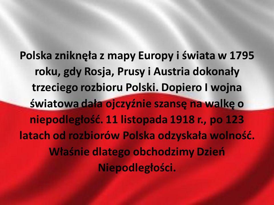 Polska zniknęła z mapy Europy i świata w 1795 roku, gdy Rosja, Prusy i Austria dokonały trzeciego rozbioru Polski.