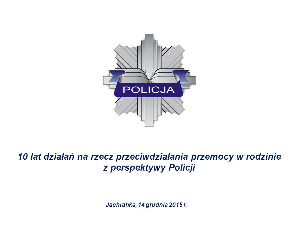 10 lat działań na rzecz przeciwdziałania przemocy w rodzinie z perspektywy Policji