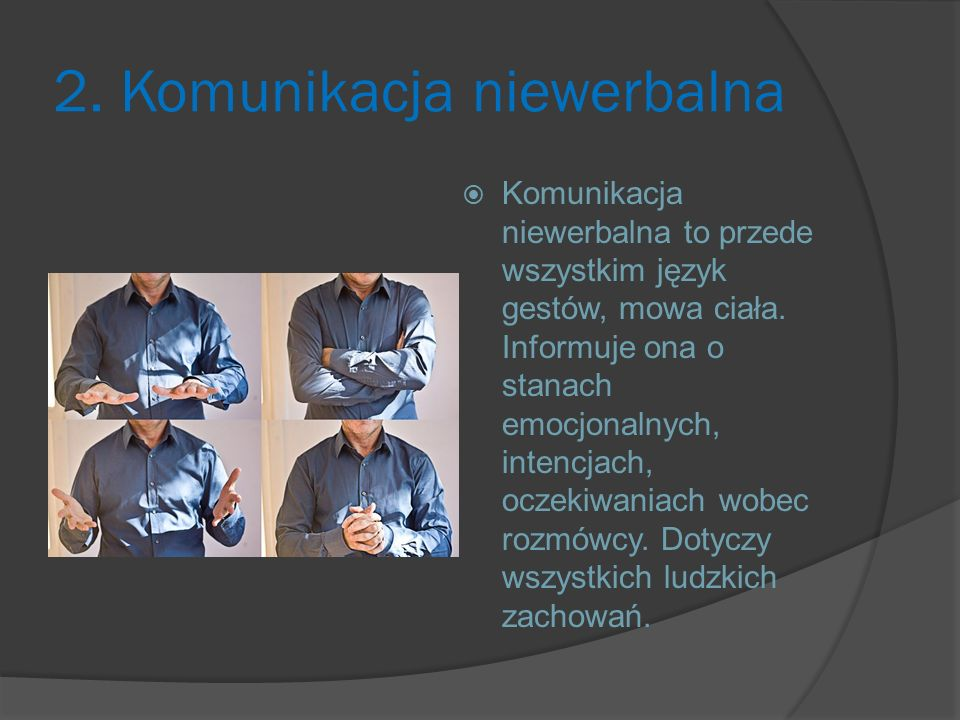 2. Komunikacja niewerbalna