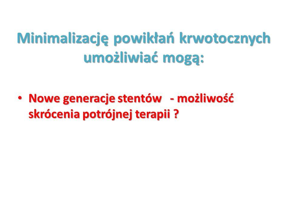 Minimalizację powikłań krwotocznych umożliwiać mogą: