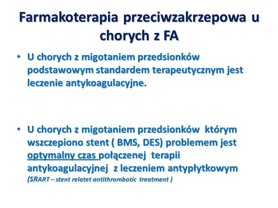 Farmakoterapia przeciwzakrzepowa u chorych z FA