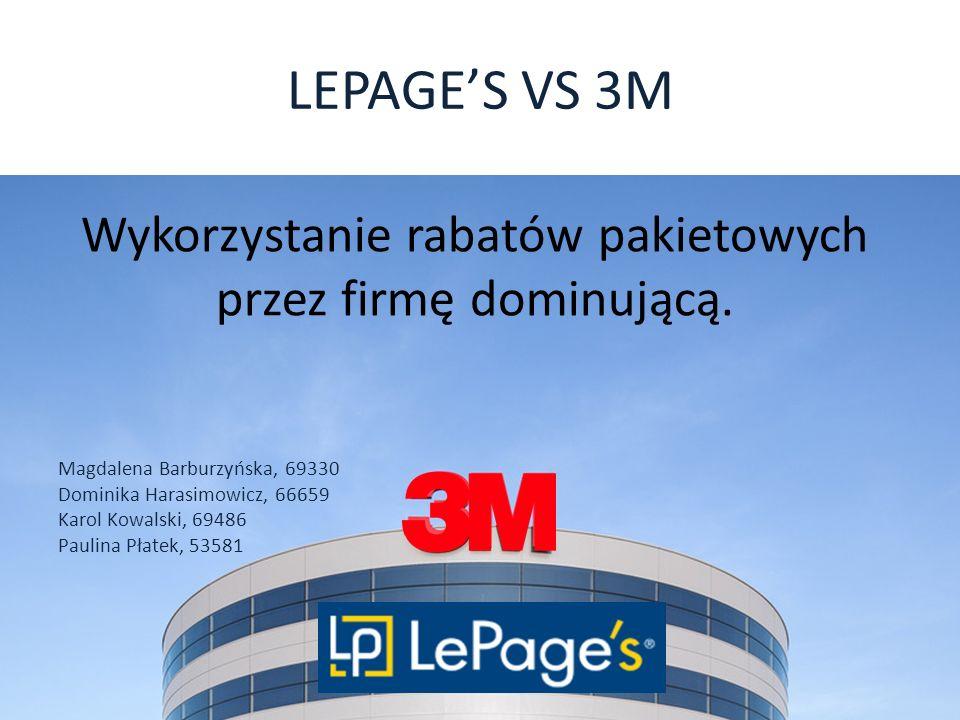 Wykorzystanie rabatów pakietowych przez firmę dominującą.