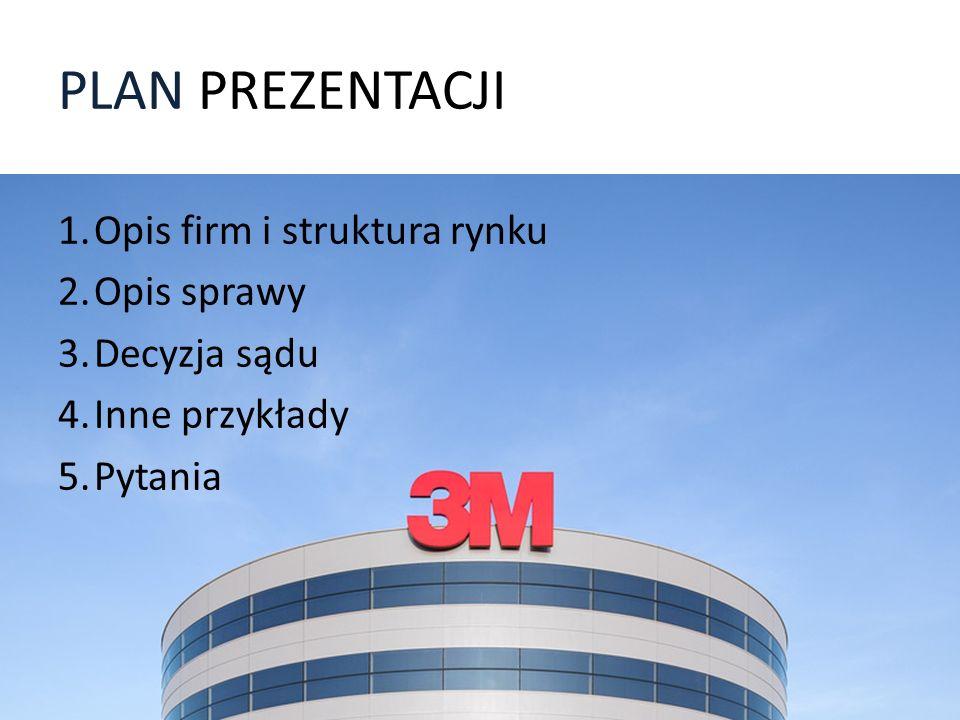 PLAN PREZENTACJI Opis firm i struktura rynku Opis sprawy Decyzja sądu