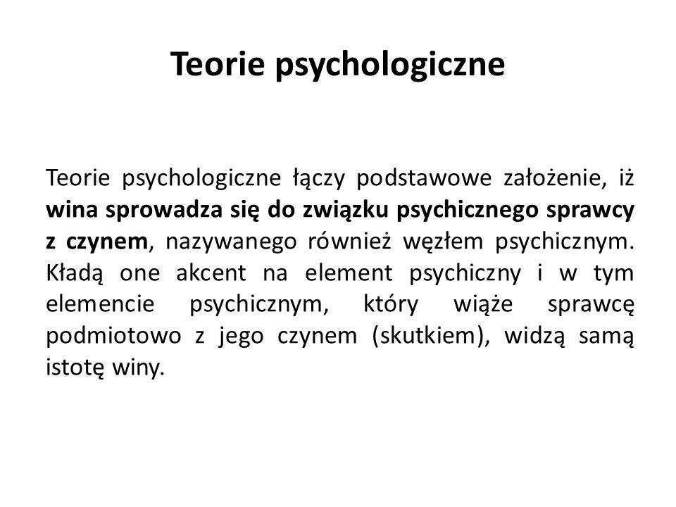 Teorie psychologiczne