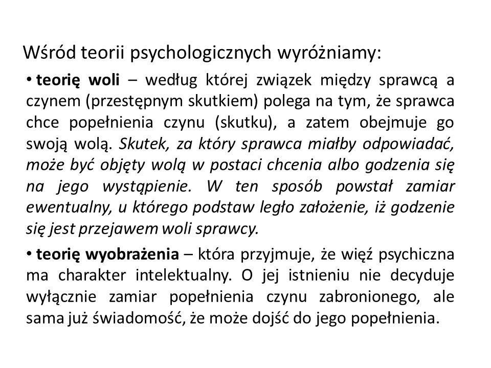 Wśród teorii psychologicznych wyróżniamy: