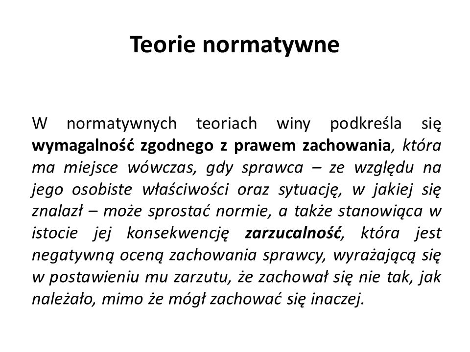 Teorie normatywne