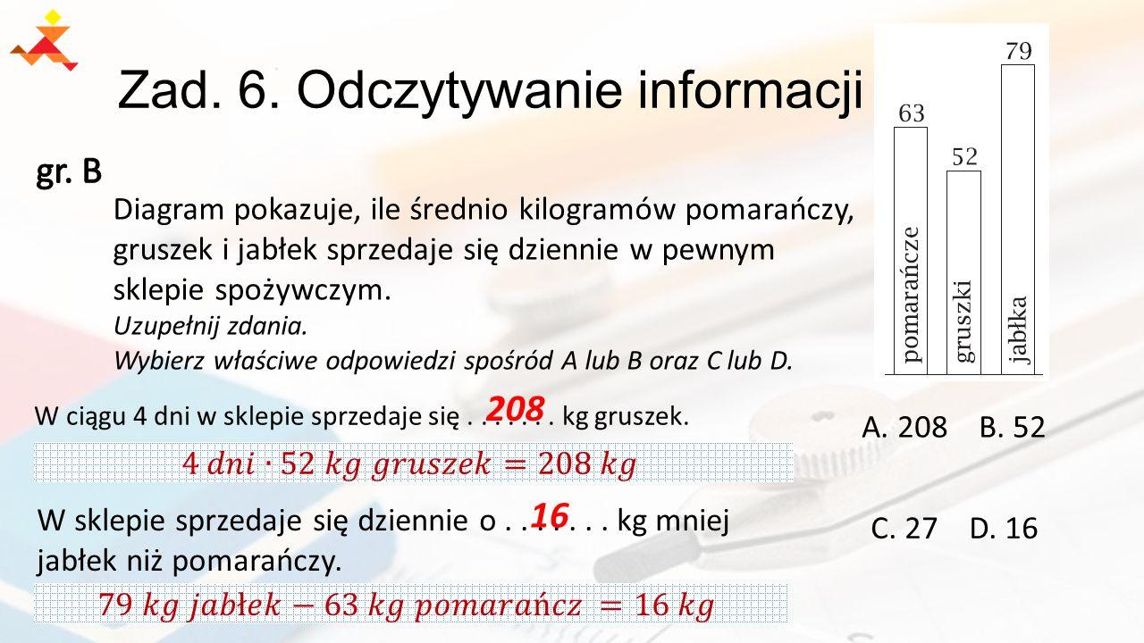 Zad. 6. Odczytywanie informacji