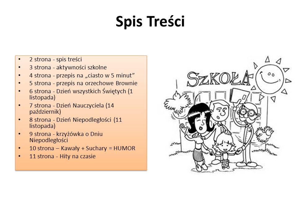 Spis Treści 2 strona - spis treści 3 strona - aktywności szkolne