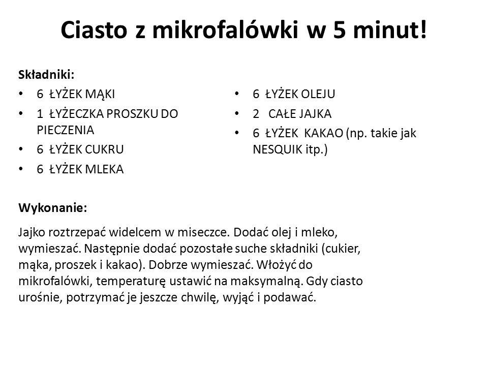 Ciasto z mikrofalówki w 5 minut!
