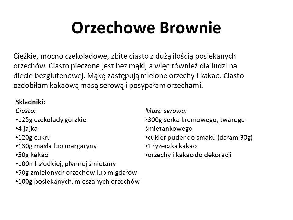 Orzechowe Brownie