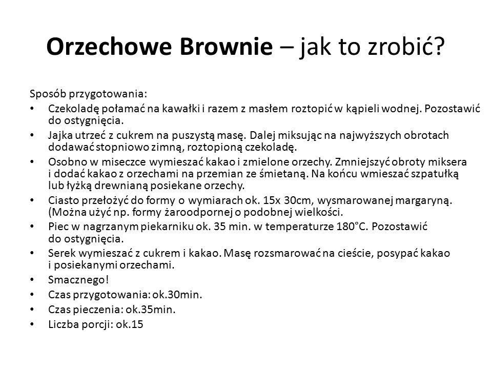 Orzechowe Brownie – jak to zrobić