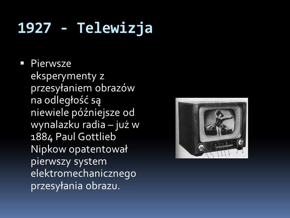 1927 - Telewizja