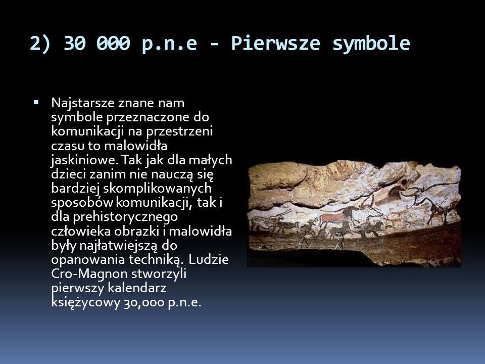 2) 30 000 p.n.e - Pierwsze symbole