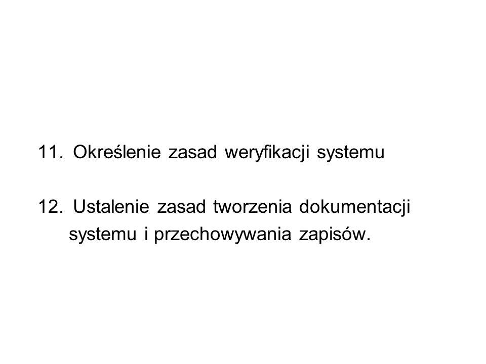 Określenie zasad weryfikacji systemu