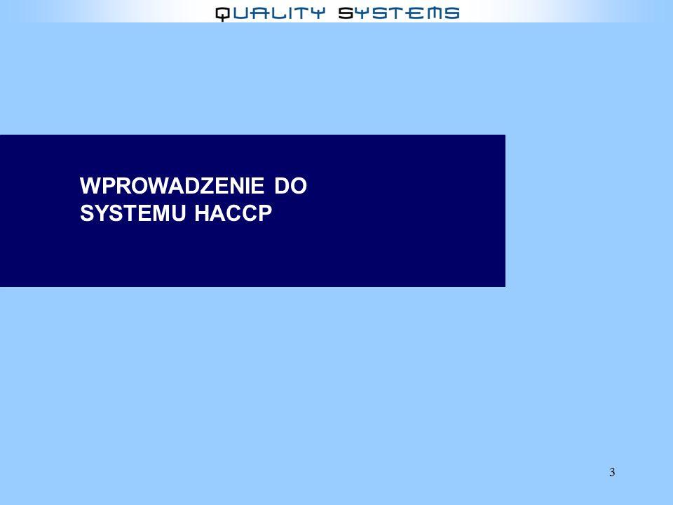 WPROWADZENIE DO SYSTEMU HACCP