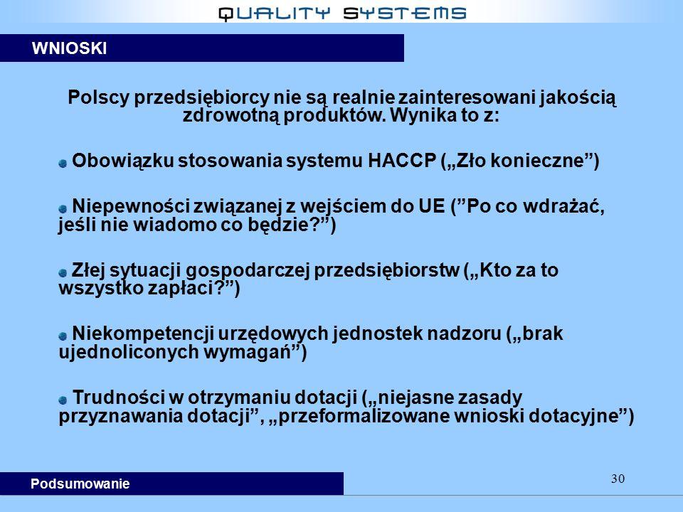 """Obowiązku stosowania systemu HACCP (""""Zło konieczne )"""