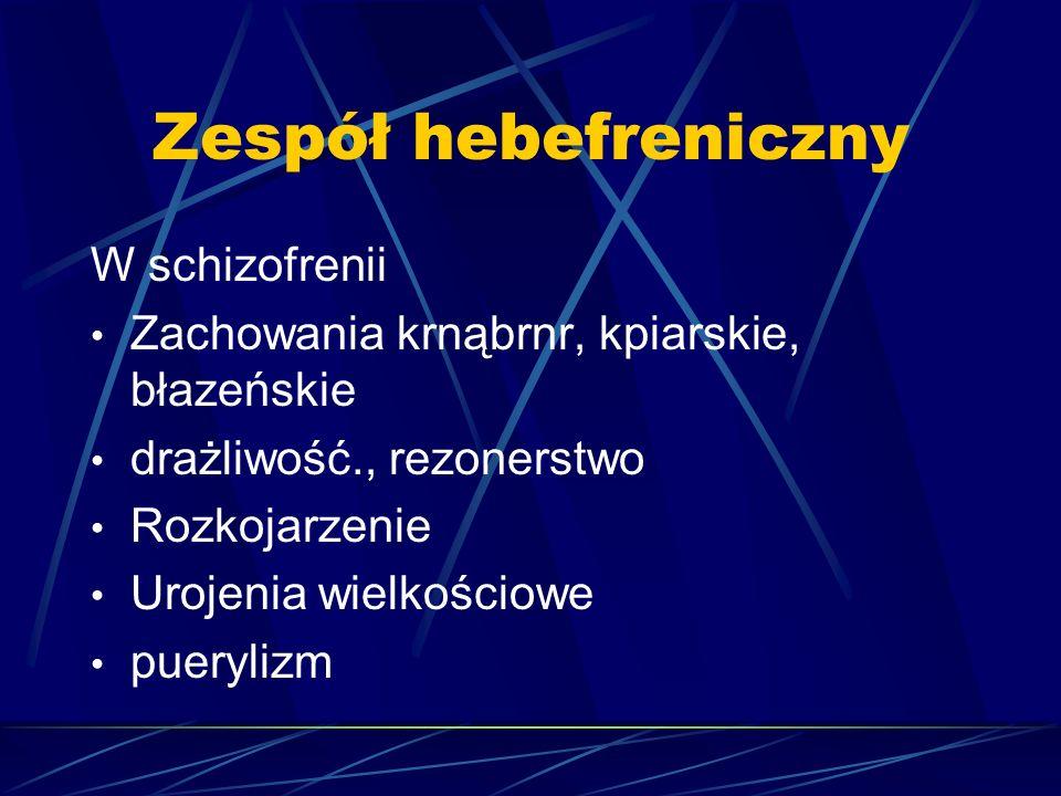 Zespół hebefreniczny W schizofrenii