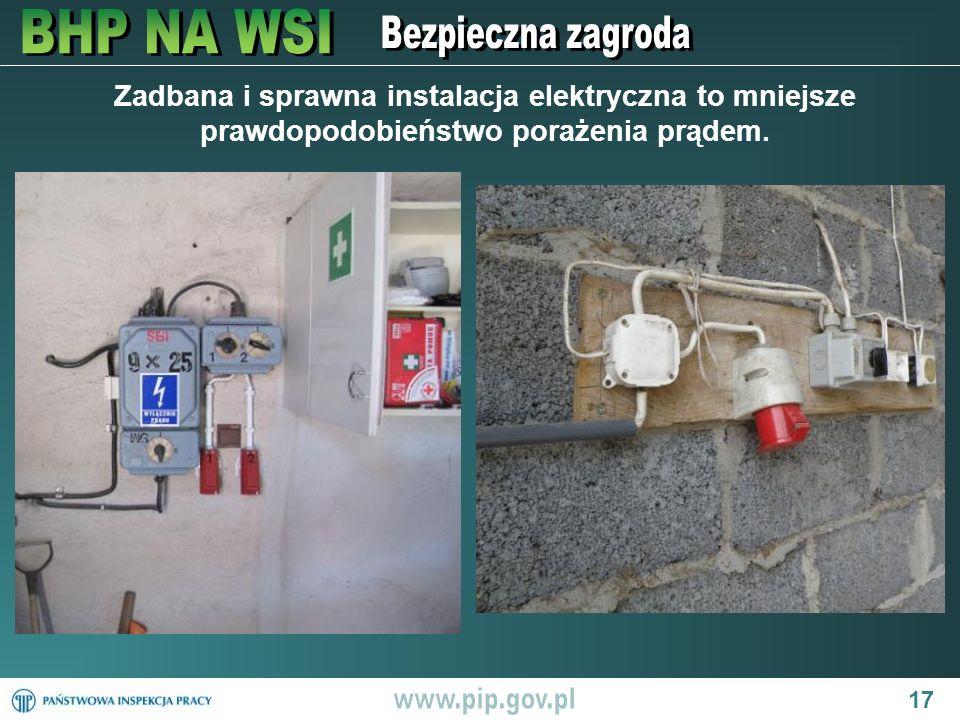 Zadbana i sprawna instalacja elektryczna to mniejsze prawdopodobieństwo porażenia prądem.