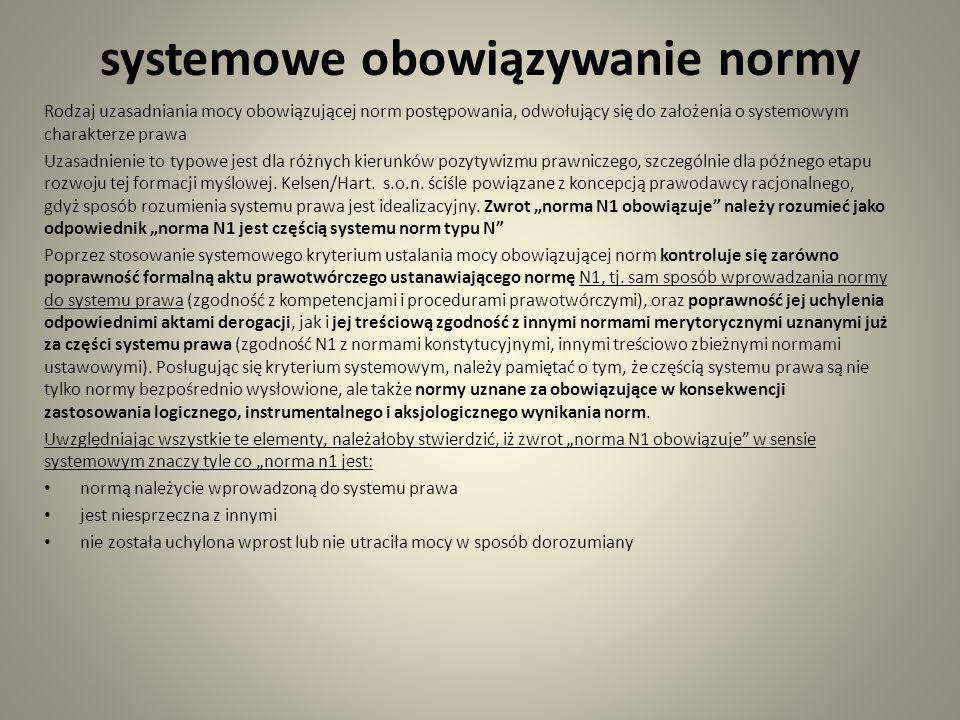 systemowe obowiązywanie normy