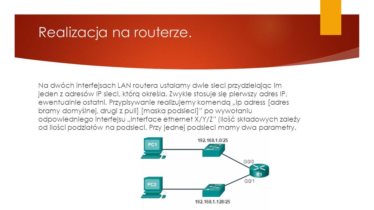 Realizacja na routerze.
