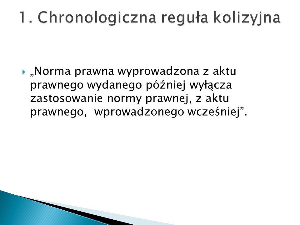1. Chronologiczna reguła kolizyjna