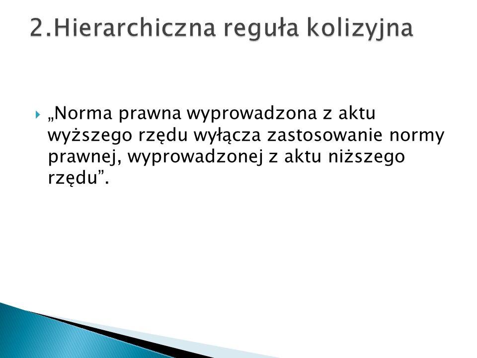 2.Hierarchiczna reguła kolizyjna