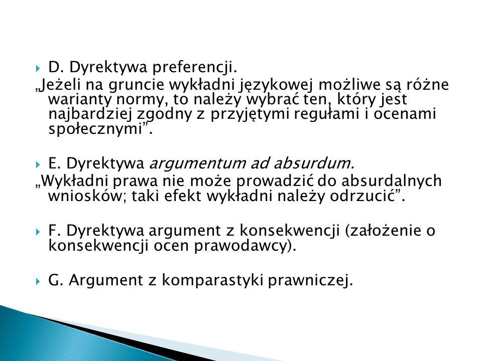 D. Dyrektywa preferencji.