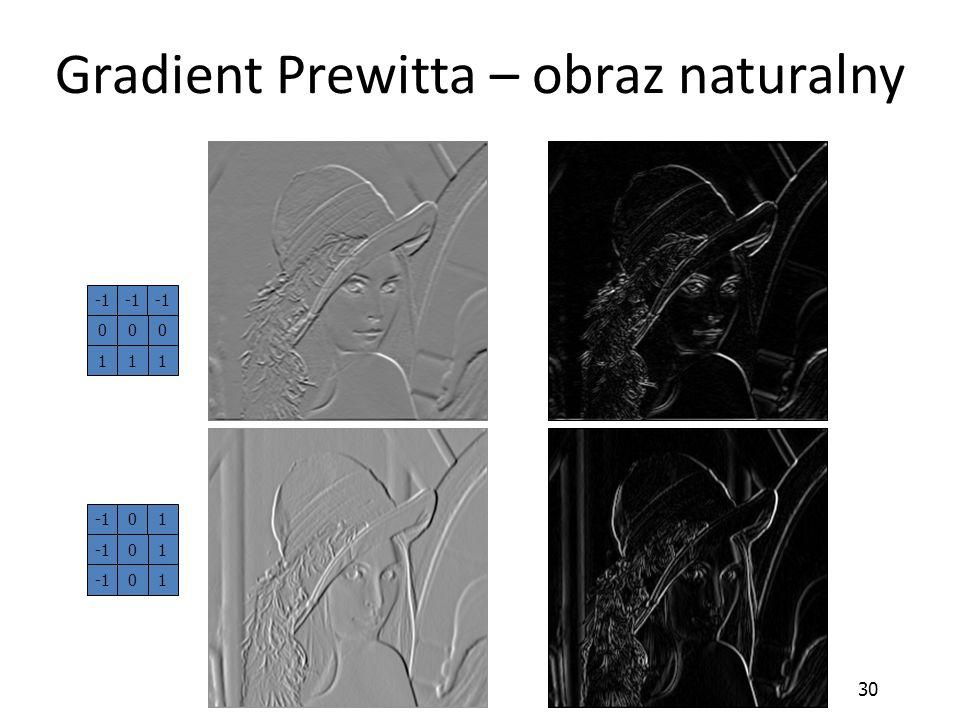 Gradient Prewitta – obraz naturalny