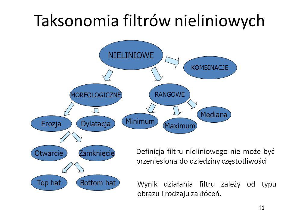Taksonomia filtrów nieliniowych