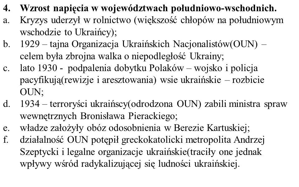Wzrost napięcia w województwach południowo-wschodnich.