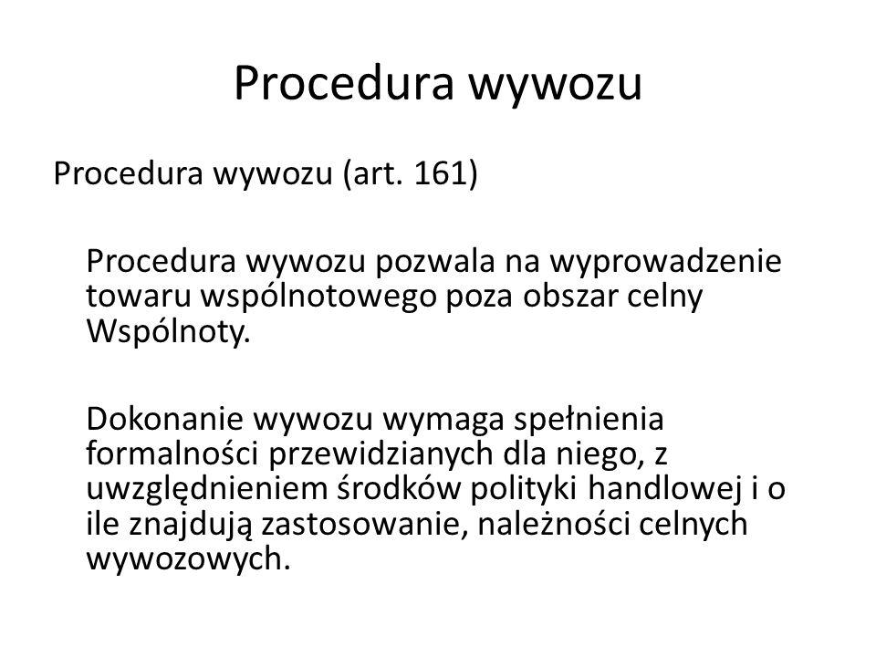 Procedura wywozu