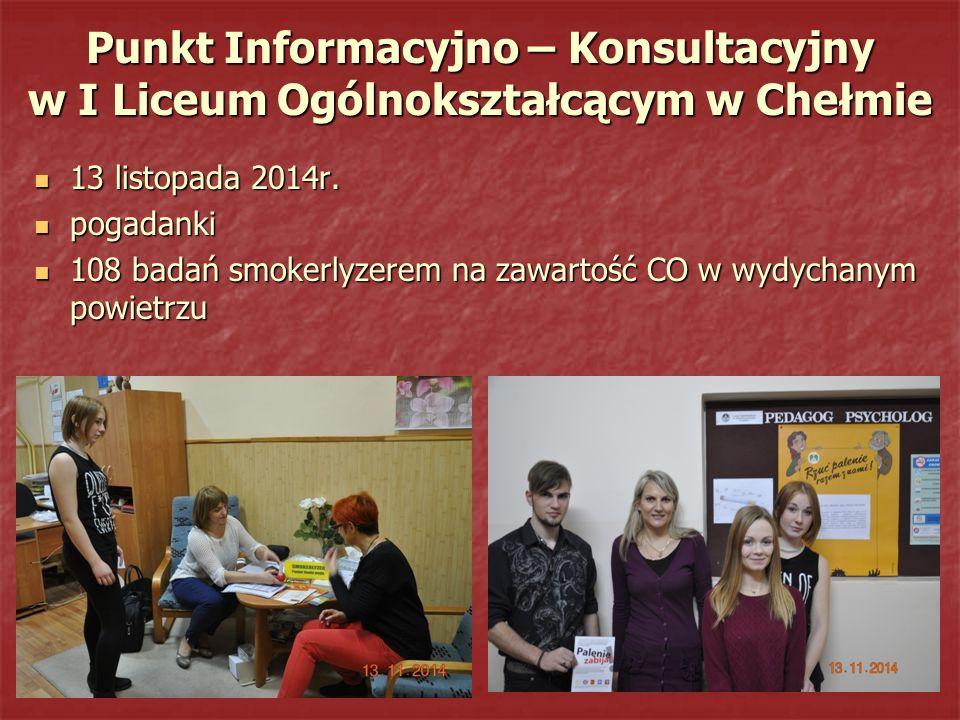 Punkt Informacyjno – Konsultacyjny w I Liceum Ogólnokształcącym w Chełmie